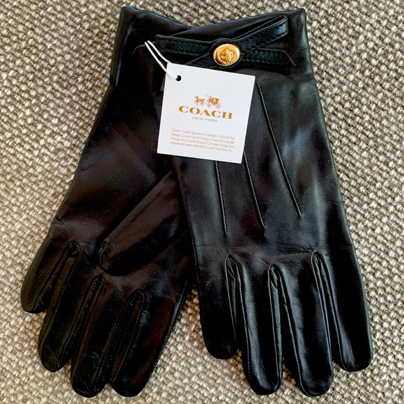 Coach Ladies Leather Gloves